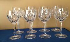 Villeroy And Boch 8 Crystal Glasses Vintage Vertical Cut Mint VB