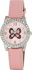 Tikkers Girls' Pink Butterfly Watch-Stones Set. Christmas Stocking Filler Gift