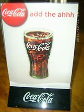 L@@K NEW Coca-Cola Acrylic Menu Board Sign Table Tent Holder! In Red or Black!