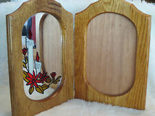 """WOODEN 13"""" X18"""" MIRROR and PHOTO FRAME 8""""X10"""""""