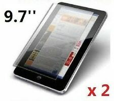 "2 x PROFESSIONAL SCREEN PROTECTOR FOR 9.7"" INCH ANDROID TABLET PC EPAD APAD UK"