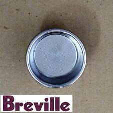 GENUINE BREVILLE COFFEE MACHINE DUAL WALL FILTER DOUBLE CUP PART BES860/11.41