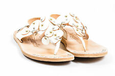 "Pedro Garcia White Patent Leather ""Zintia"" Sandals SZ 36.5"