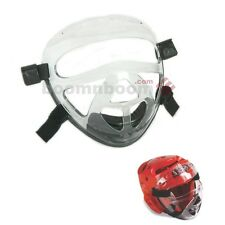 New Macho Dyna Karate Taekwondo Face Shield Clear Cage Mask Sparring Gear