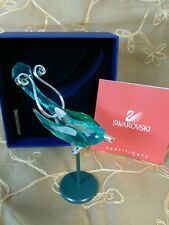 Swarovski Crystal Bird Figurine Boali Antique Green W/Cert