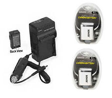 2 Batteries + Charger for Canon A2600 IXUS 125 HS IXUS 132 135 140 IXUS 240 HS