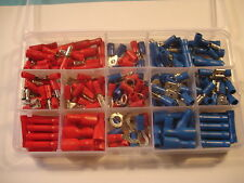 200pc Insulated Assorted Electrical Wire Terminal Crimp Connector Spade Set Box