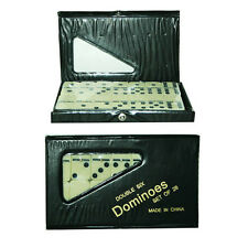 Set of 28 Double Six Dominoes in PVC Carry Case Traditional Travel Game Toy