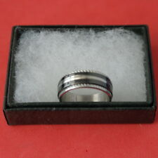 Nice Double Ring In Stainless Steel Size O - Q12 -  S -  Y12  In Gift Box
