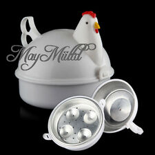 Chicken Shaped Egg Cooker Boiler Steamer Microwave For 4 Eggs Kitchen Tool
