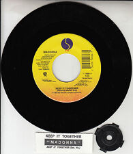 "MADONNA Keep It Together 7"" 45 rpm vinyl record BRAND NEW + juke box title strip"