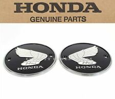 New Genuine Honda Tank Round Badges Emblems Set 60-69 CA160 CL160 CA77 OEM #B20