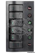 NEW!!!PANNELLO ELETTRICO PCP COMPACT 6 INTERRUTTORI C. LED  IP66 BARCA NAUTICA