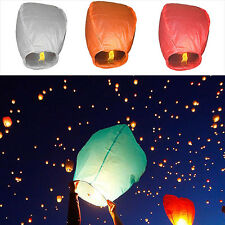 CHIC 1PCS Paper Chinese Lanterns Sky Fly Candle Lamp for Wish Party Wedding