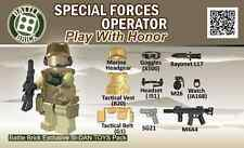 Army Special Forces Operator Weapons Pack (SKUP23) Designed for Brick Minifig