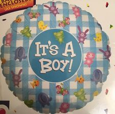 """18"""" It's A Boy Foil Balloon - Suitable For helium Or air"""