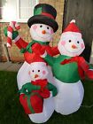 Christmas Decoration - Inflatable Snowman Family With LED Lights -Indoor Outdoor