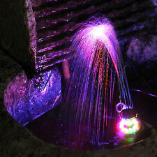 Submersible LED Fountain Ring 12 LED Lights Water Pump Kit System for Pool Pond