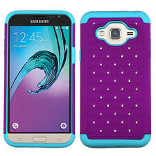 For Samsung Galaxy J3 Purple Mint Duo Diamond Phone Cases