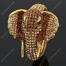 Topaz Brown fashioni crystal rhinestone animal elephant bracelet animal