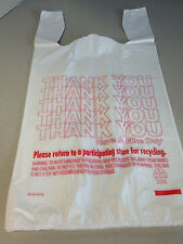 200ct Large 1/6 Thank You T-shirt Plastic Grocery Shopping Bags With Handle...