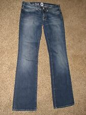 EUC! Juniors Italy Made No266 NFY size 28 Blue Jeans Metallic Skulls Boyfriend 5