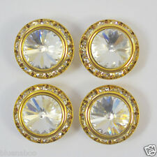 per button gold or silver coloured diamante encrusted buttons beautiful 3 sizes