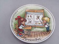 "Vintage 1966 Joan Walsh Anglund November Plate Germany 7 3/4"""