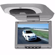 Grey 9'' Car Monitor Roof Mount LCD Flip Without DVD Screen Overhead Multimedia