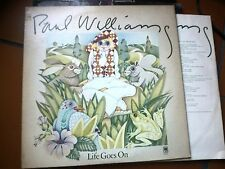 "LP 12"" PAUL WILLIAMS LIFE GOES ON AM RECORDS USA + INNER SLEEVE EX/EX+/EX+++"