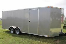 8.5x20  Enclosed Trailer Cargo 5200 lb V-Nose Car Hauler 8 Motorcycle 22 2017