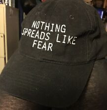 """""""Contagion"""" Movie Ball Cap Hat 2011 Nothing Spreads Like Fear Mint New Condition"""