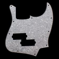 Jazz Bass Black Top Style Guitar Pickguard w/ PB Pickup hole ,4ply White Pearl