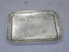 "Vintage / Antique D.W. Haber Silver on Copper Art Deco serving tray 14"" x 18"""