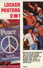 MINI-POSTERS: 2 POSTERS FOR 1 PRICE- PEACE & MALE MODELS  - FREE SHIP #24 LW13 O