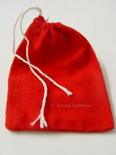 1 x RED FLANNEL COTTON BAG -  MOJO -  CONJURE BAG Wicca Pagan Witch Goth Spell