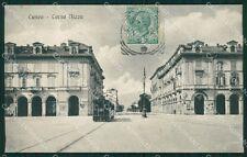 Cuneo città Tram cartolina XB3388