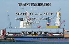 "TrainJunkies N Scale  Seaport with Ship 12x80""  C-10 Brand New"