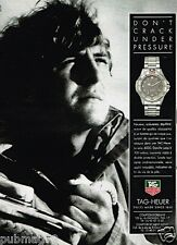 Publicité advertising 1991 La Montre Tag Heuer Serie 4000