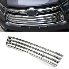 For Toyota Highlander 2014-2016 ABS Chrome Front Center Grill Grid Grille
