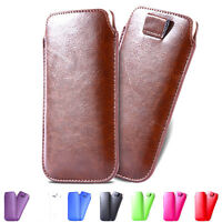 New Universal Luxury Leather Strap Pouch  Case Cover Holster for Mobile Phone