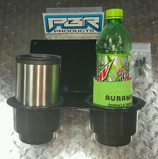 Yamaha Rhino 2 JUMBO Cups Drink Holder utv black powder coated
