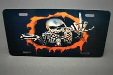 SKULL METAL LICENSE PLATE FOR CARS