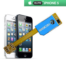 MAGICSIM ELITE per iPhone 5-Dual SIM Card Adapter-Regno Unito