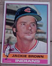 Jackie Brown, Indians,  1976  #301 Topps Baseball Card,  GOOD CONDITION