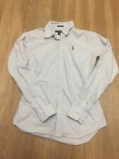 POLO Ralph Lauren Women's Slim Fit Long Sleeve Oxford Shirt Plaid Career Size:0