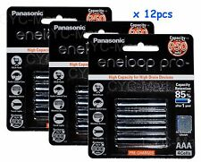 12pc Panasonic AAA NiMH 950mAh eneloop rechargeable battery Free post tracking