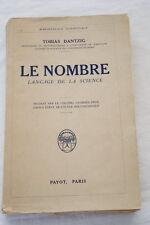 LE NOMBRE LANGAGE DE LA SCIENCE DANTZIG PAYOT 1931