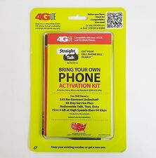 Straight Talk Bring Your Own Phone CDMA Activation Kit 4G LTE New Free Shipping