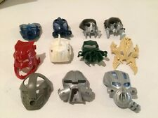 Lego Technic Bionicle Mask Lot of 11 Green Black Navy Blue Dark Red Silver etc